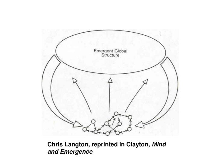 Chris Langton, reprinted in Clayton,