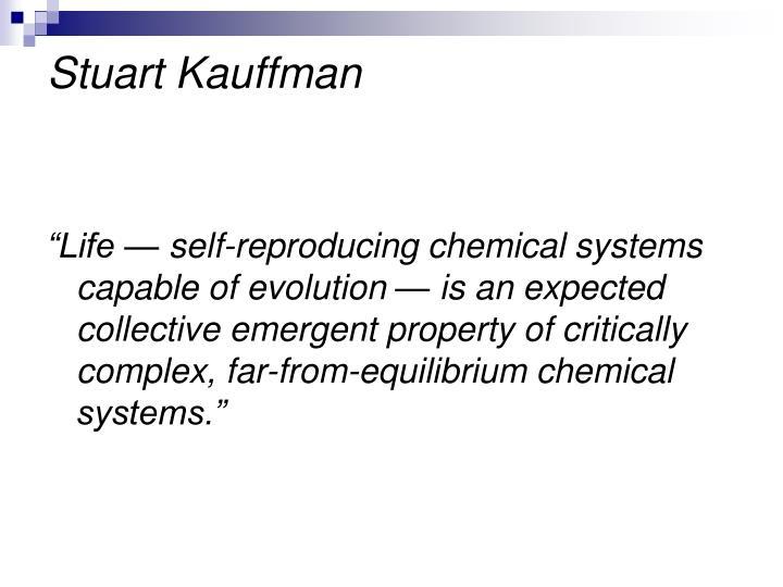 Stuart Kauffman