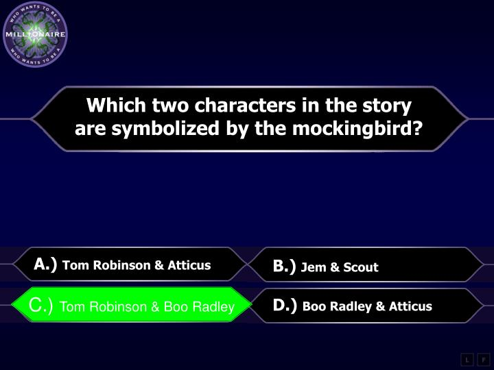 Which two characters in the story
