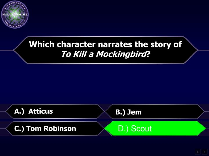 Which character narrates the story of