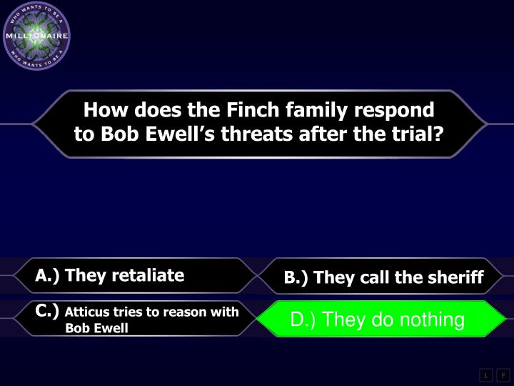 How does the Finch family respond