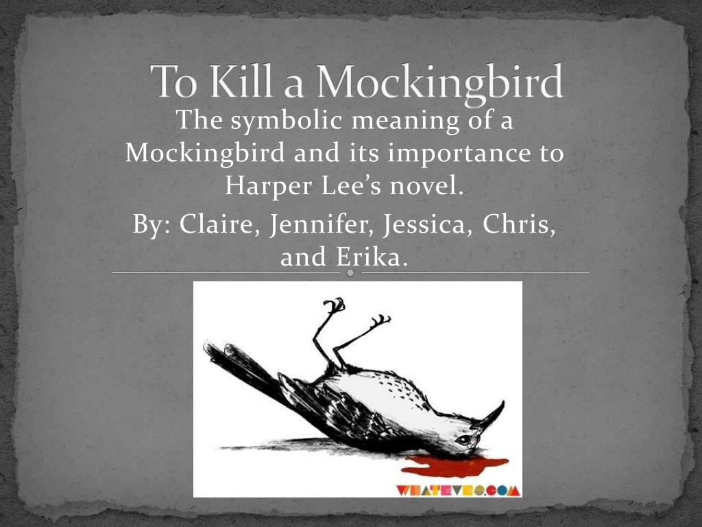 important symbols in to kill a mockingbird