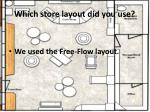 which store layout did you use
