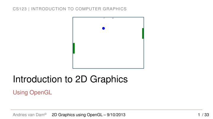introduction to 2d graphics n.