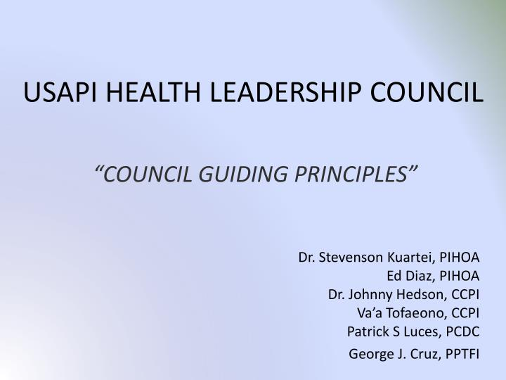 usapi health leadership council n.