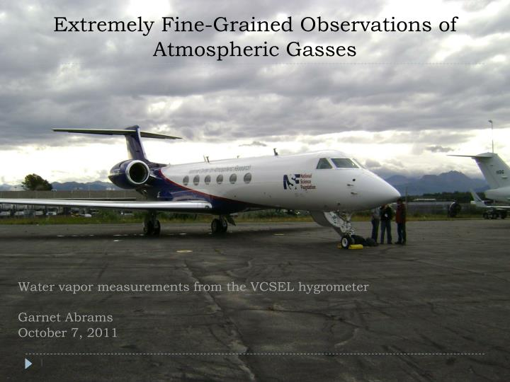 extremely fine grained observations of atmospheric gasses n.