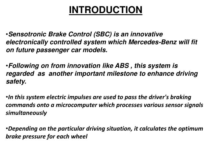 sensotronic brake controllers essay If this is not the exact sbc sensotronic brake hydraulic unit (rebuilt) you are looking for, or you would like this part in a brand other than genuine mercedes, please call us at (800) 467-9769 and one of our customer service experts will help you locate the exact part you need.