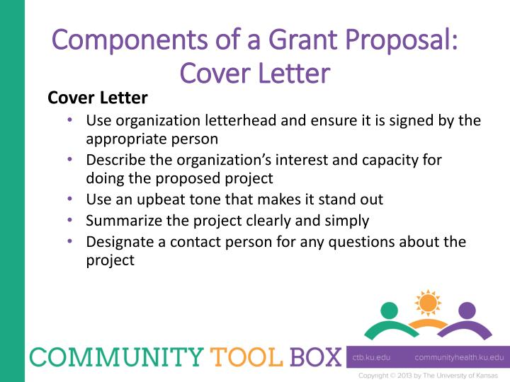 Components of a Grant Proposal:
