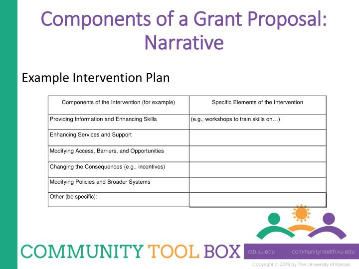 Components of a Grant Proposal: Narrative