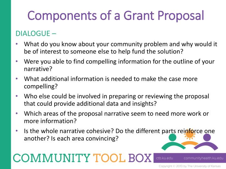 Components of a Grant Proposal