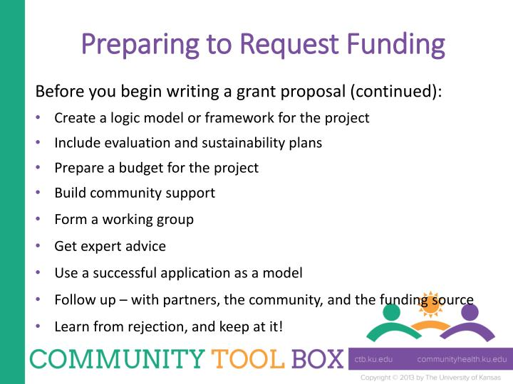 Preparing to Request Funding
