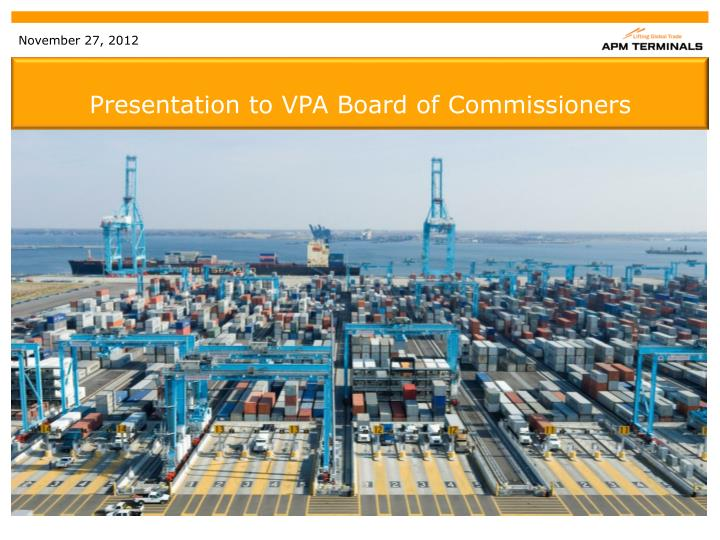 presentation to vpa board of commissioners n.