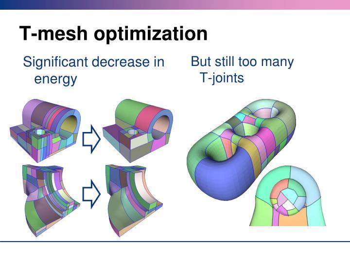 T-mesh optimization