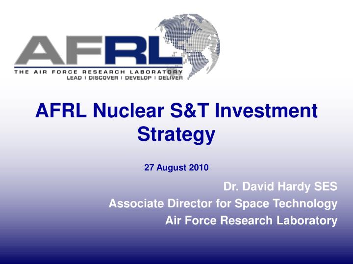 afrl nuclear s t investment strategy n.