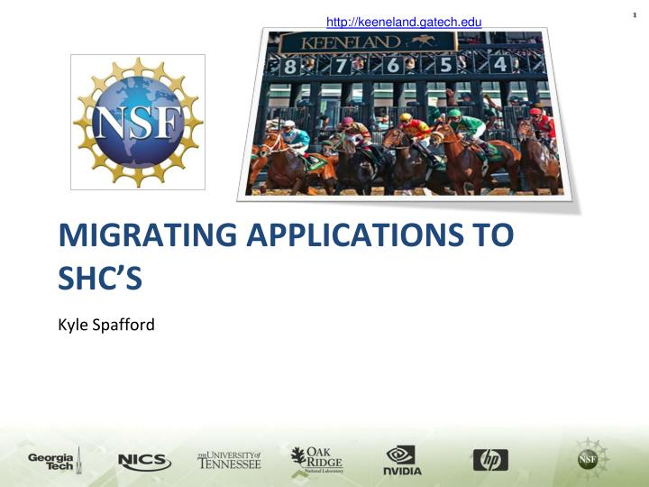 migrating applications to shc s n.
