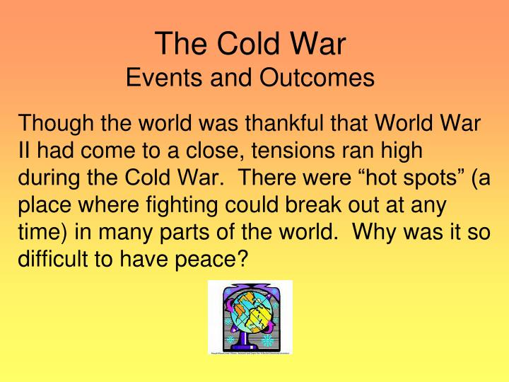 the cold war events and outcomes n.