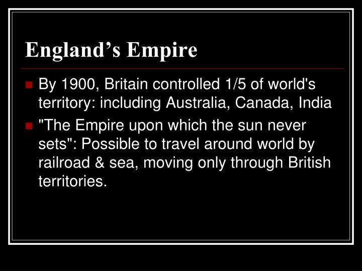 England's Empire