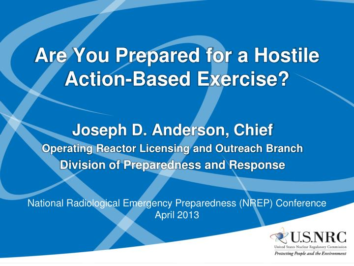 are you prepared for a hostile action based exercise n.