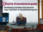 1 exports of manufactured goods