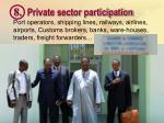 8 private sector participation