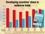 developing countries share in seaborne trade
