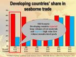 developing countries share in seaborne trade1