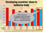developing countries share in seaborne trade2