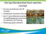 het sportfondsenbad oost zwemles concept