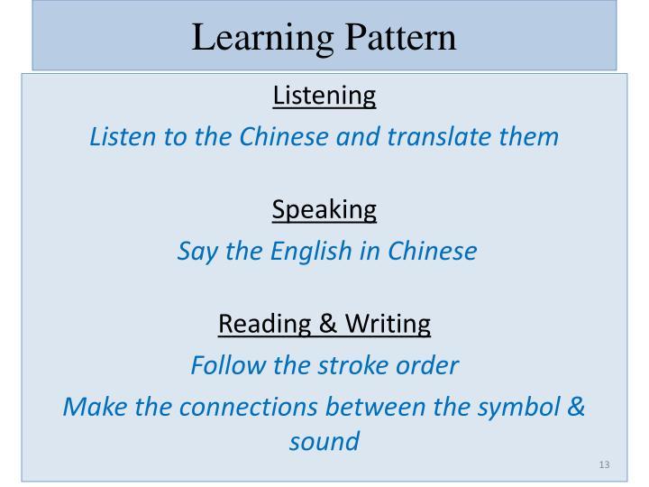 Learning Pattern