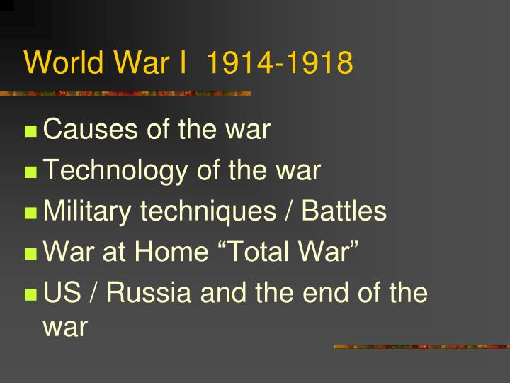 world war i 1914 1918 n.