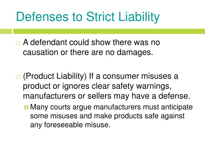 strict liability in product liability essay 1994] punitive damages and strict products liability: an essay in oxymoron ellen wertheimer i introduction ( ourts have frequently awarded punitive damages in strict.