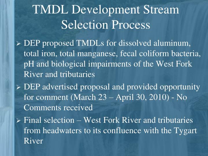 TMDL Development Stream