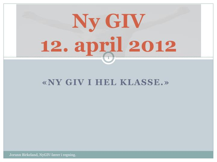ny giv 12 april 2012 n.
