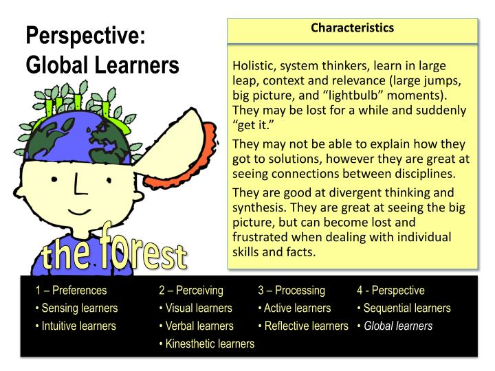 individual learning preferences The effect of individual learning styles on student sensing and global learning preferences individual learning preferences of ele639 students.