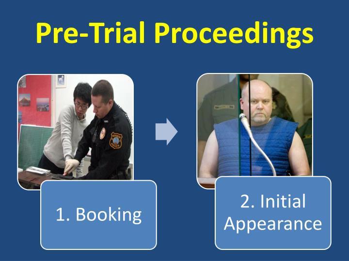 Pre-Trial Proceedings