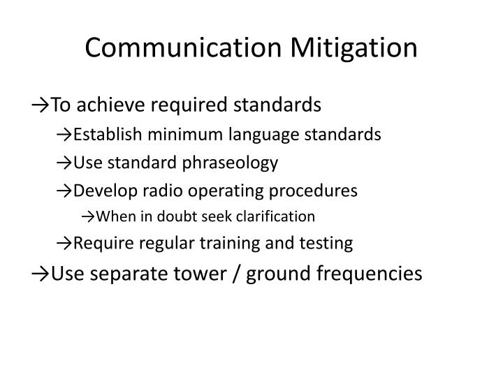 Communication mitigation