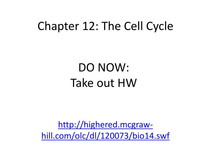 chapter 12 the cell cycle n.