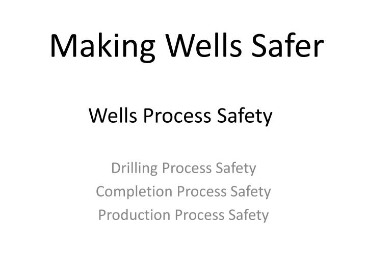 wells process safety n.