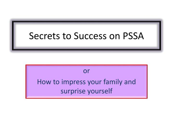 secrets to success on pssa n.