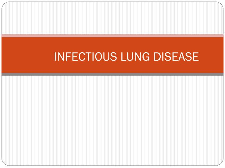 infectious lung disease n.