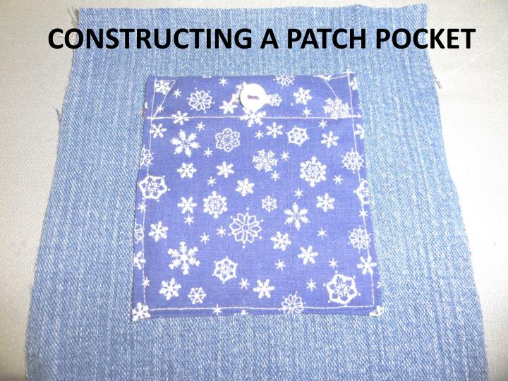 constructing a patch pocket n.