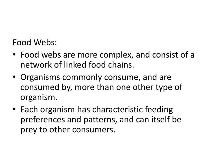 Food Webs: