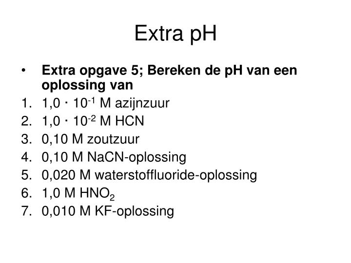 Extra pH