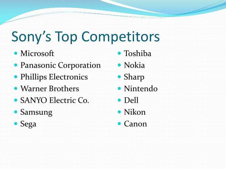 Sony s top competitors