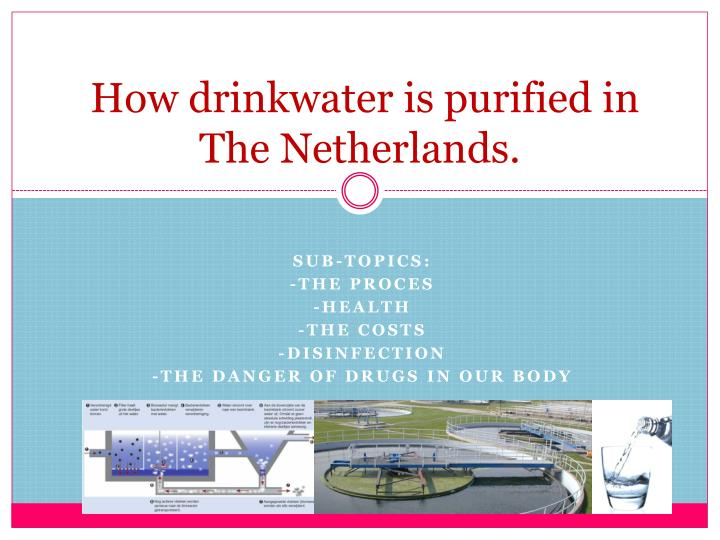 how drinkwater is purified in the netherlands n.