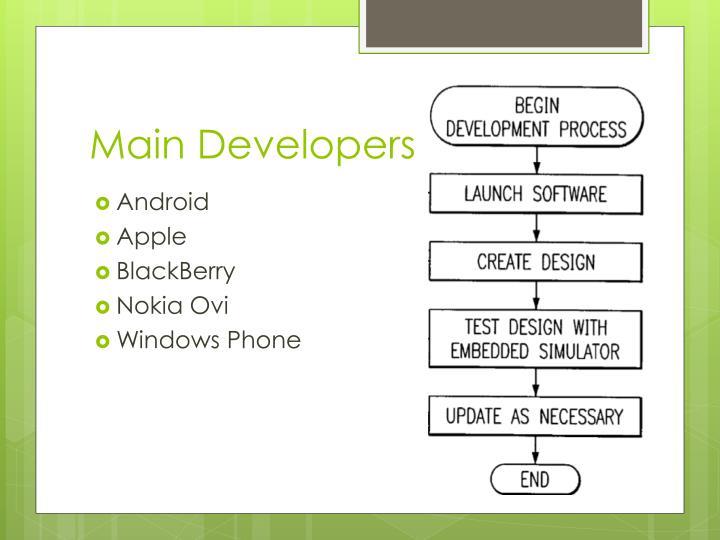 Main developers
