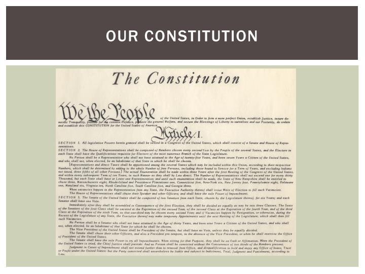 Our constitution