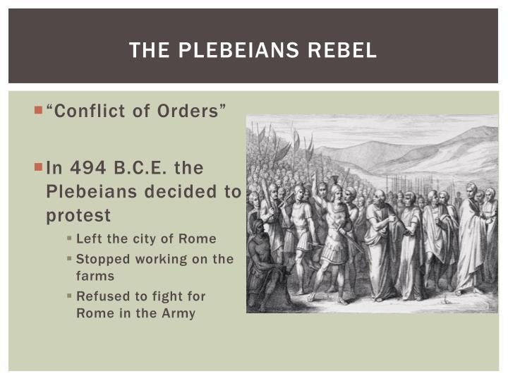 The plebeians rebel