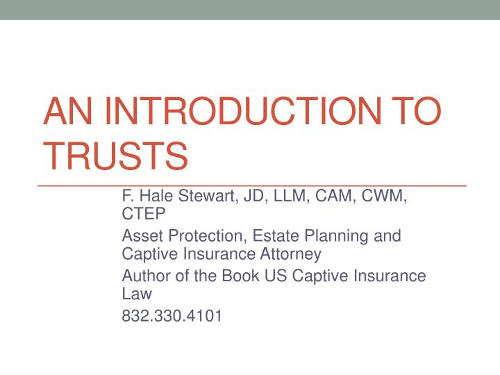 an introduction to trusts n.