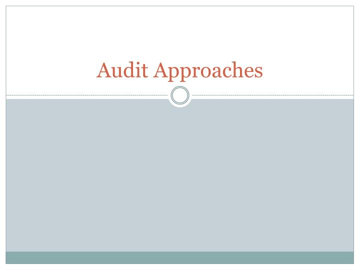 audit approaches n.